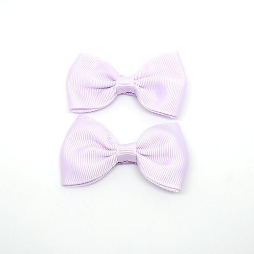 barrettes nœuds violet pastel