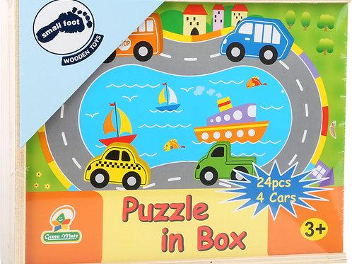Puzzle à jouer circulation routière