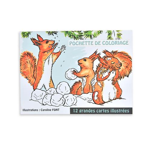 Carnet de 12 coloriages