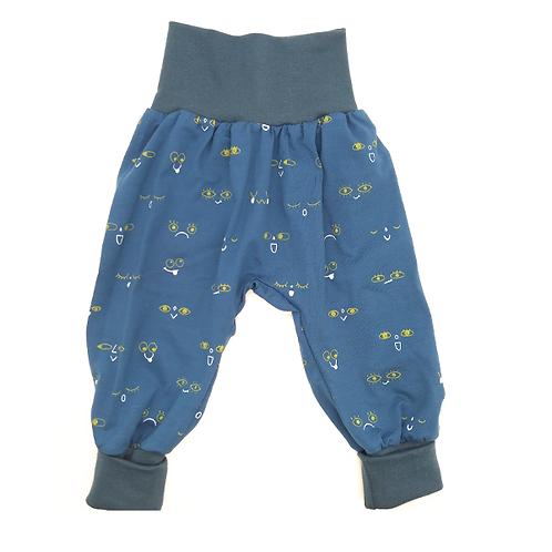 Pantalon évolutif bleu nuit visages