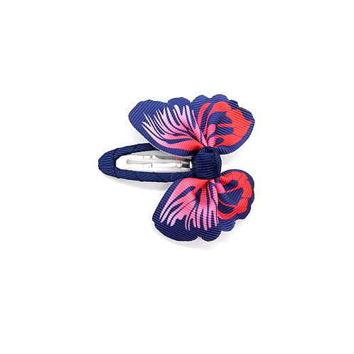Barrette papillon rose/violet