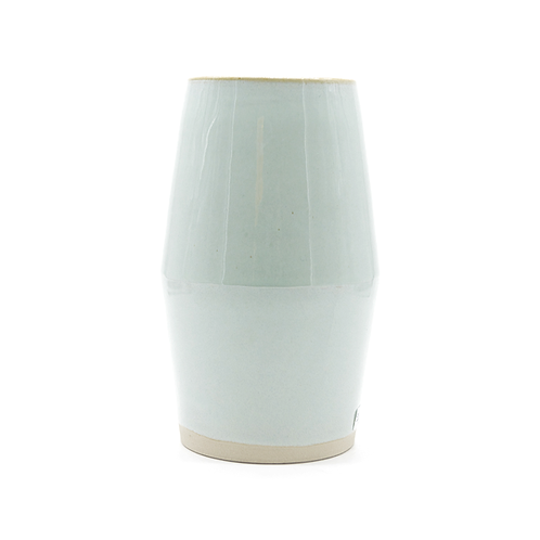 Vase en grès laqué  vert d'eau