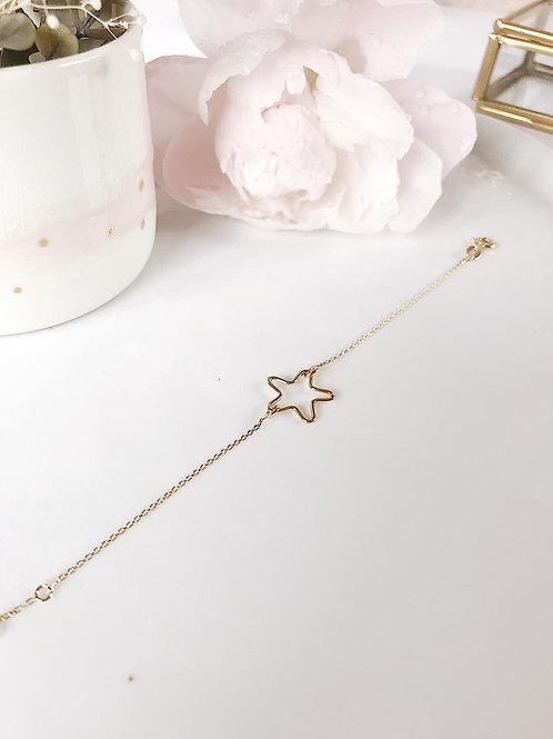 Bracelet chaîne étoile xl