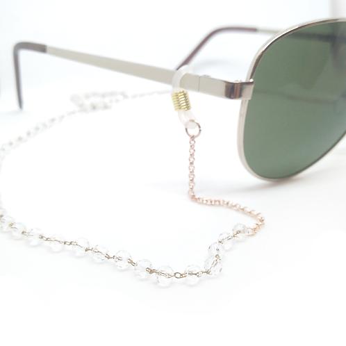Chaîne de lunettes en perles facettées