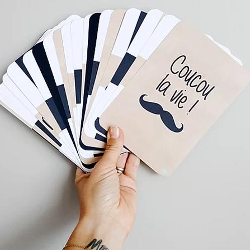 Pack de 26 cartes étapes - Moustaches