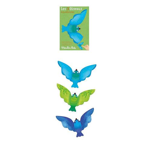 Lot de 3 oiseaux équilibristes