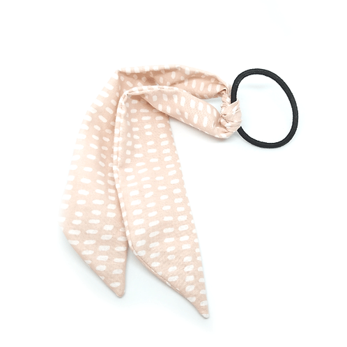 Chouchou foulard pastel rose