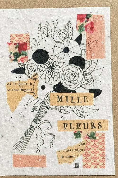 """Carte à planter """"milles fleurs"""""""