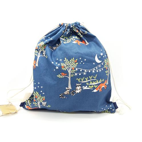 Petit sac à dos souple bleu nuit