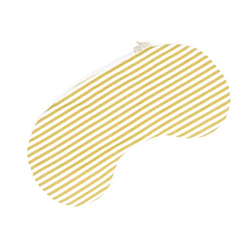 Protège épaule rayé jaune et blanc coton bio