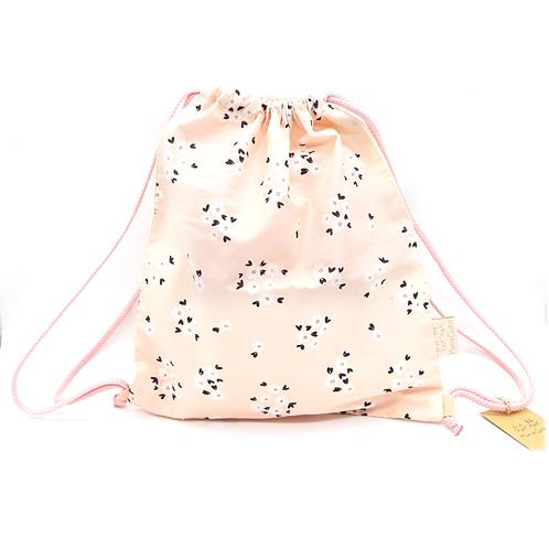 Petit sac à dos souple rose petites fleurs