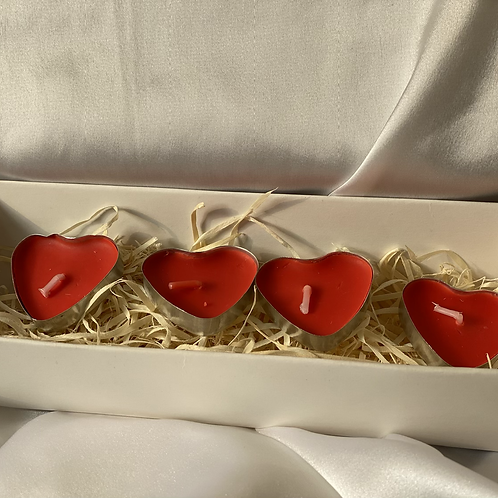 RED HEART CANDLES