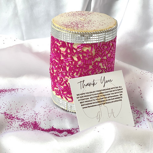 PINK SPRINKLE CANDLE