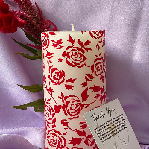 ROSE PAPER CANDLE