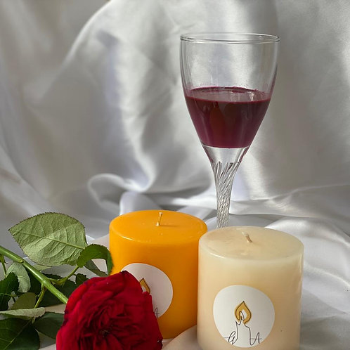 SCENTED PILLAR CANDLE DUO