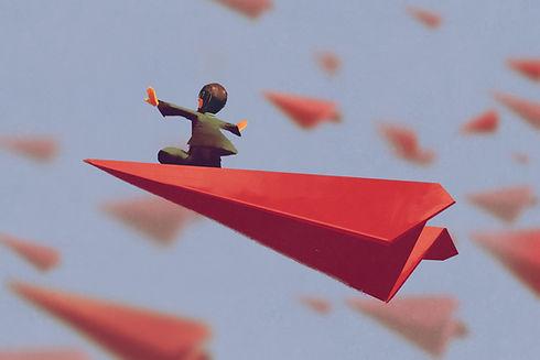 Papier volant Avion