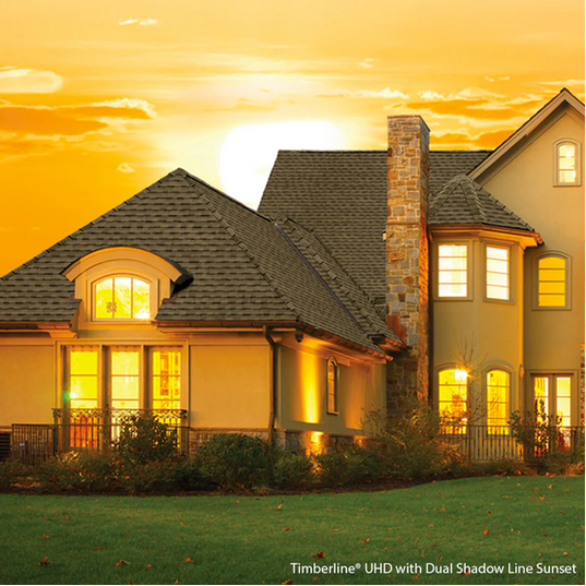 Timberline® UHD with Dual Shadow Line Lifetime Roofing Shingles - Sunset