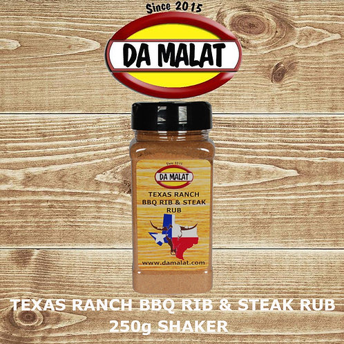 Texas Ranch BBQ Rib & Steak Rub 250g Shaker Jar