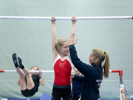 Two full time coaches of Women's Artistic Gymnastics (WAG)