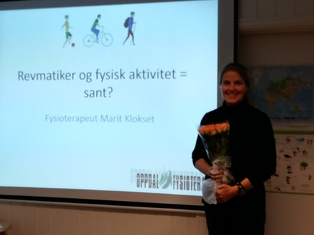 Oppdal Fysioterapi med undervisning på temakveld hos Oppdal og Rennebu revmatikerforening