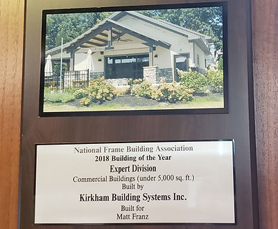 National Frame Builders Assosiation 2018 Building of the Year Winner Expert Division Commerical Kirkham Building System