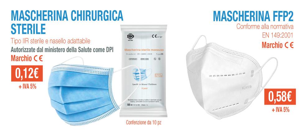 Mascherina chirurgica e FFP2