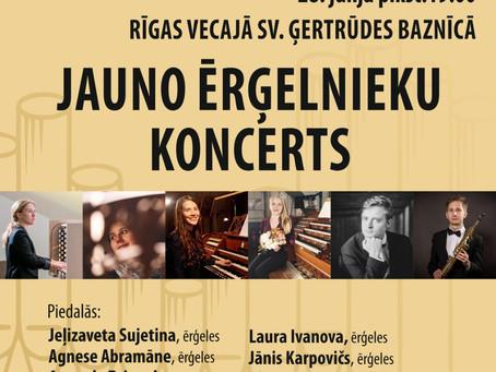 Jauno ērģelnieku koncerts no Ģertrūdes baznīcas