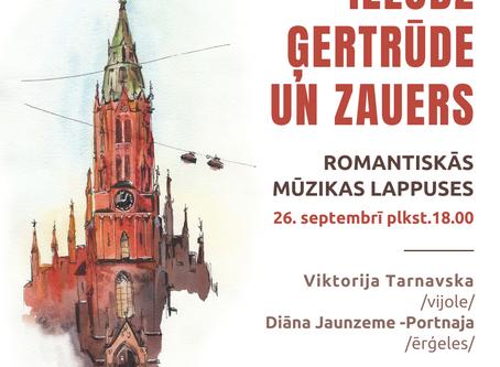 Ielūdz Ģertrūde un Zauers - koncerts 26.septembrī