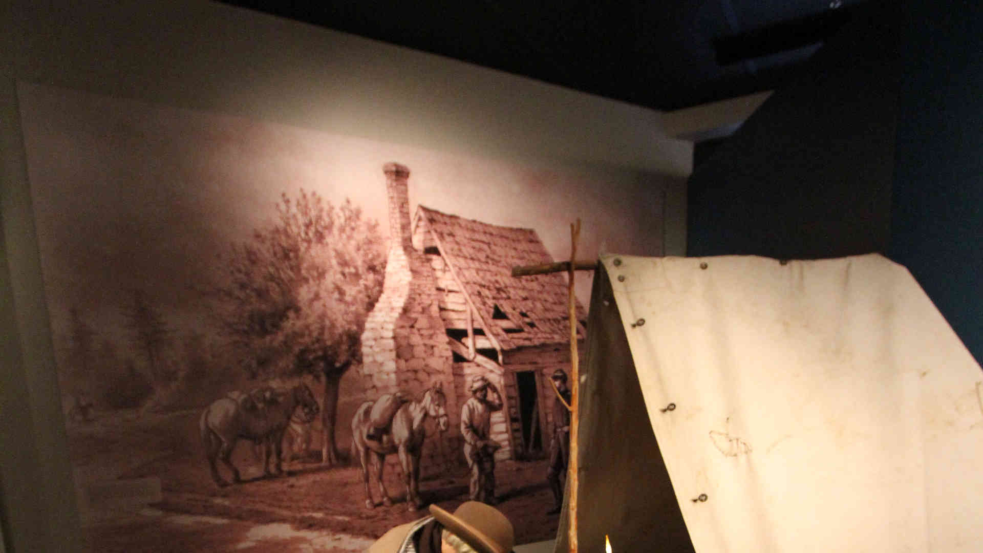 stones river national battlefield visitor center and headquarters exhibit sculpture