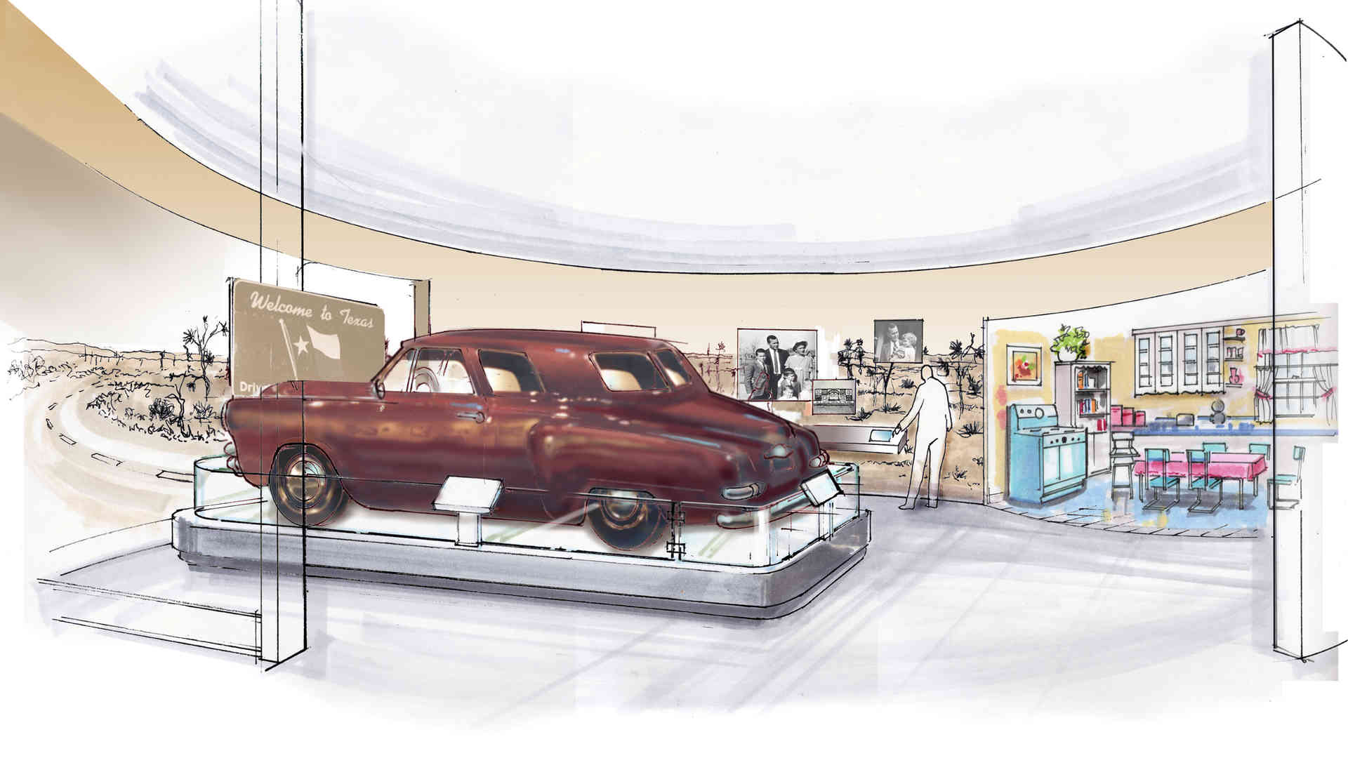 george bush library and museum master plan and concept of bush family car