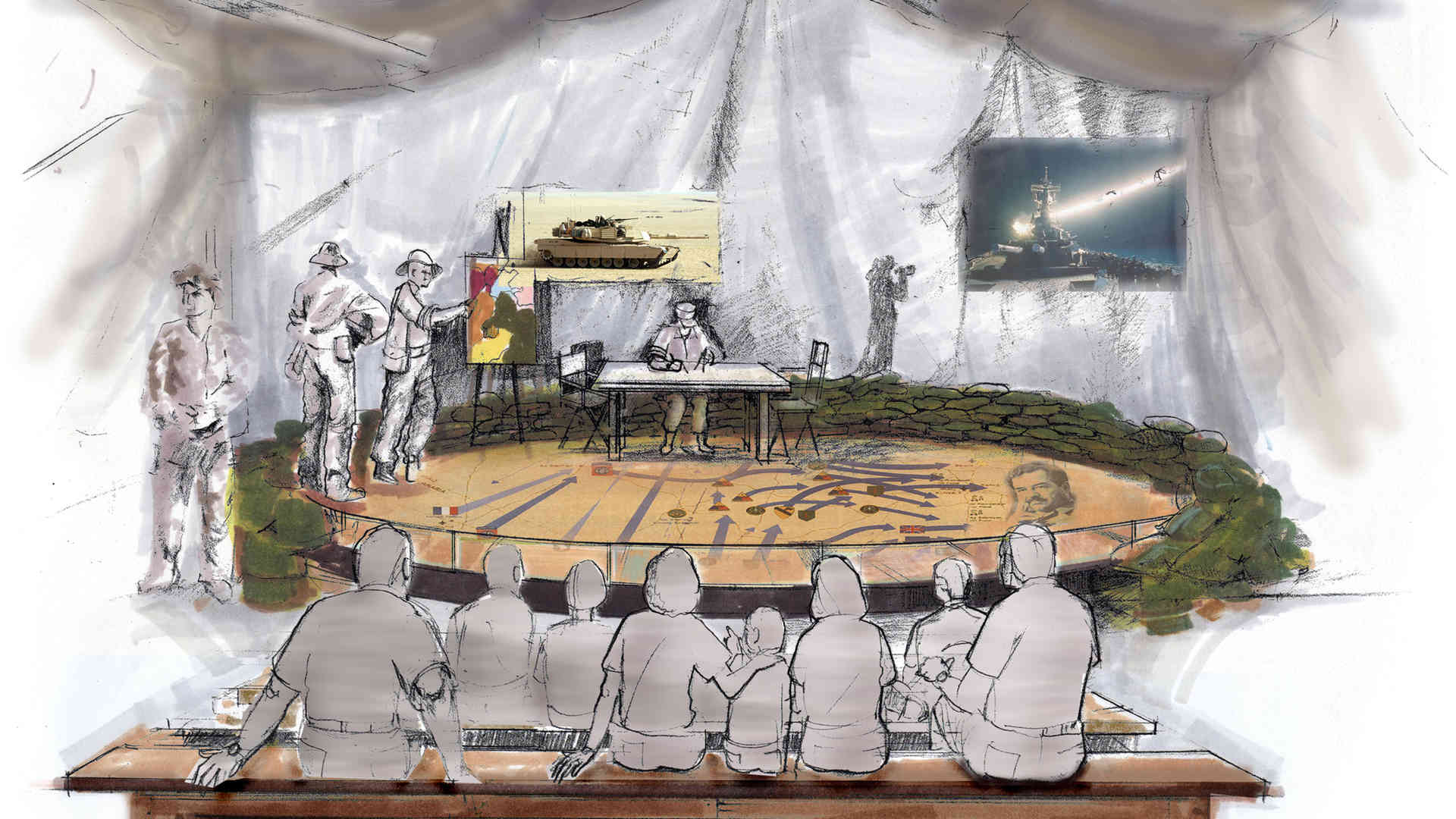 george bush library and museum master plan and concept of object theater