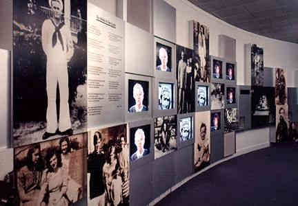 national prisoner of war museum graphic and a/v wall
