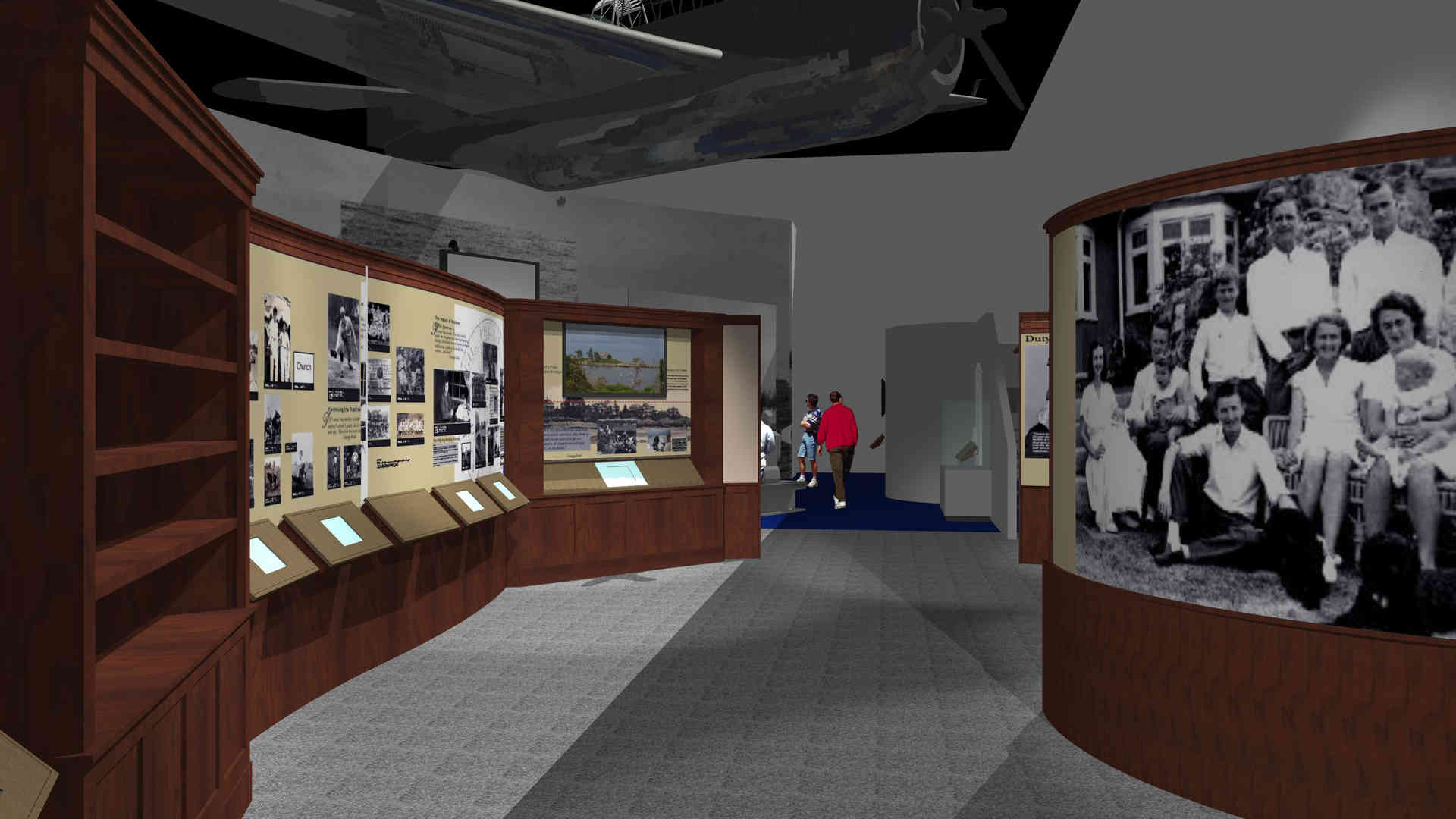 george bush library and museum master plan and rendering