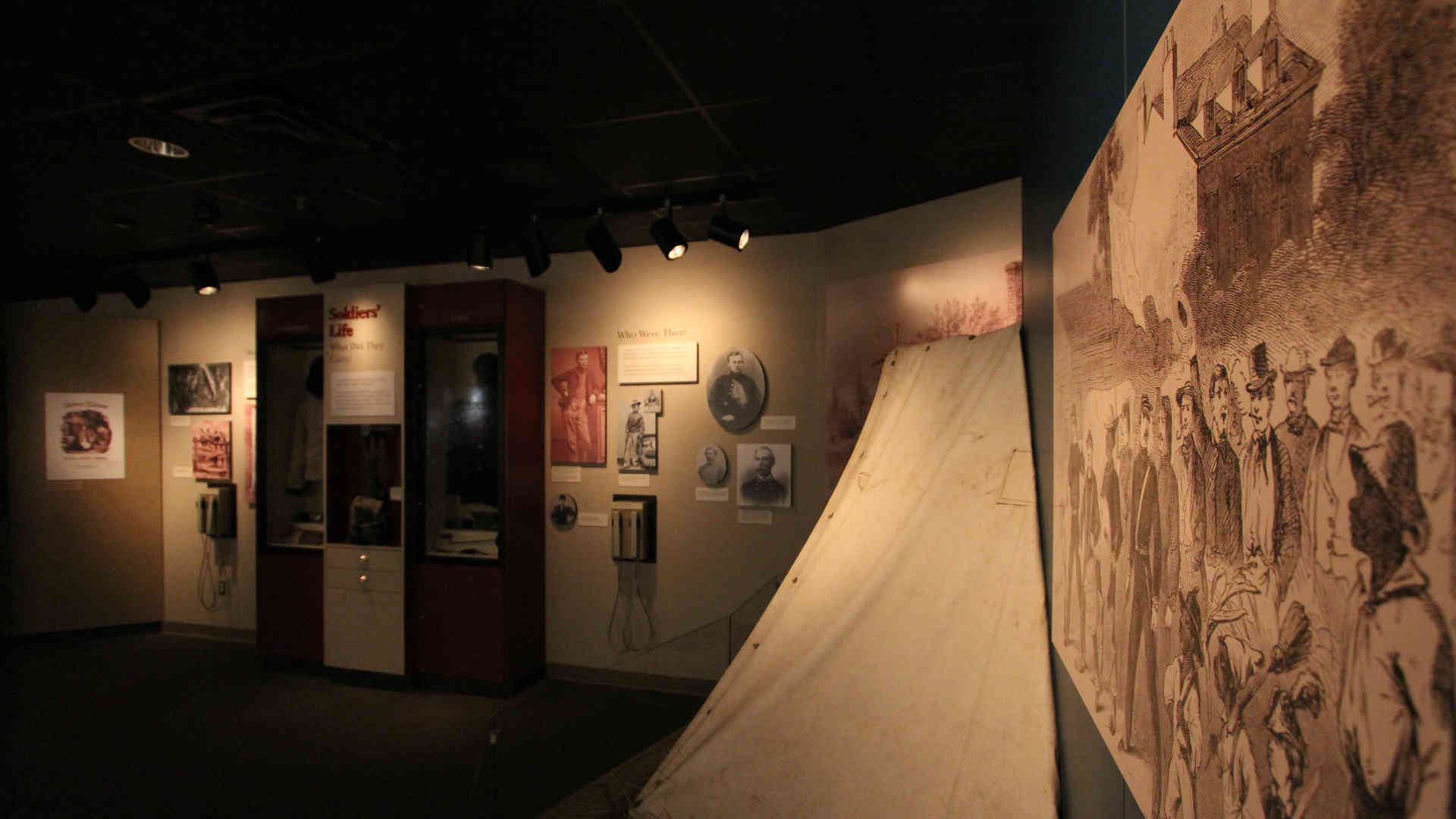 stones river national battlefield visitor center and headquarters exhibit mural