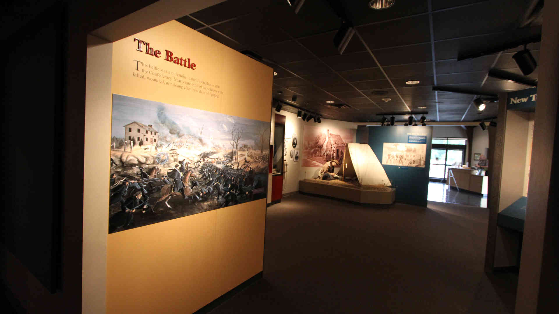 stones river national battlefield visitor center and headquarters exhibit interior