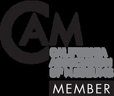 CAM Member Logo PNG Black & White for we