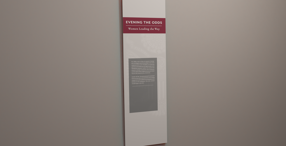 title ix hanging graphic in the richard nixon presidential library