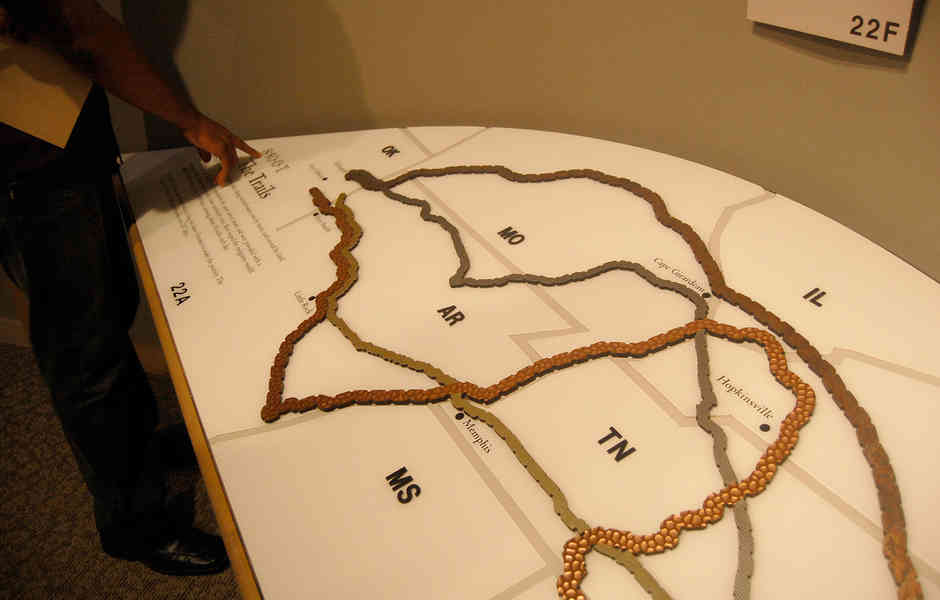 trail of tears museum exhibition interactive