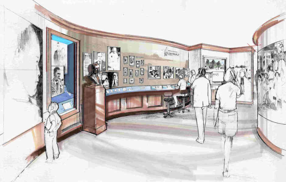george bush library and museum master plan and concept legacy exhibit area