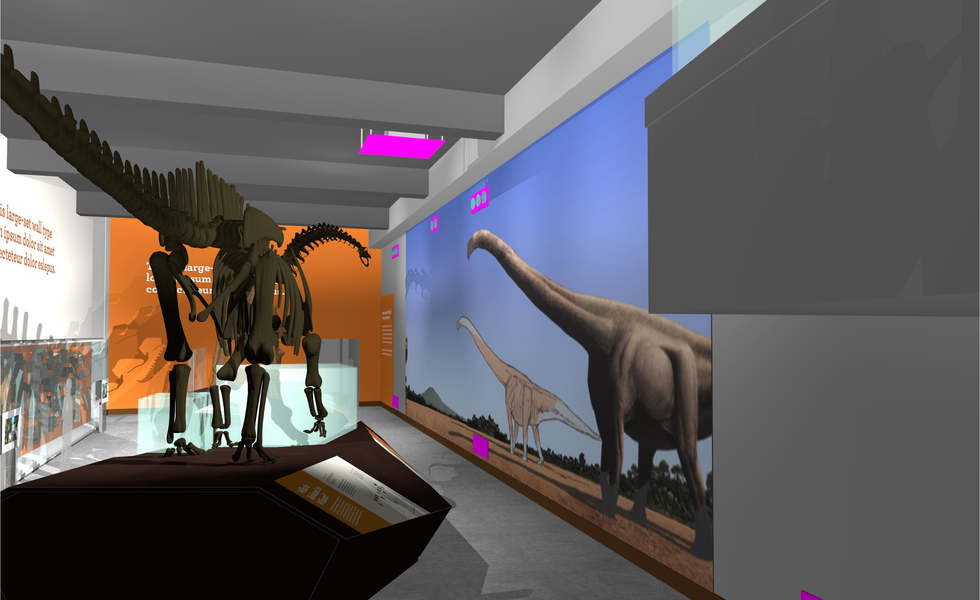 los angeles county museum of natural history featuring the dinosaur hall exhibit master plan and renderings