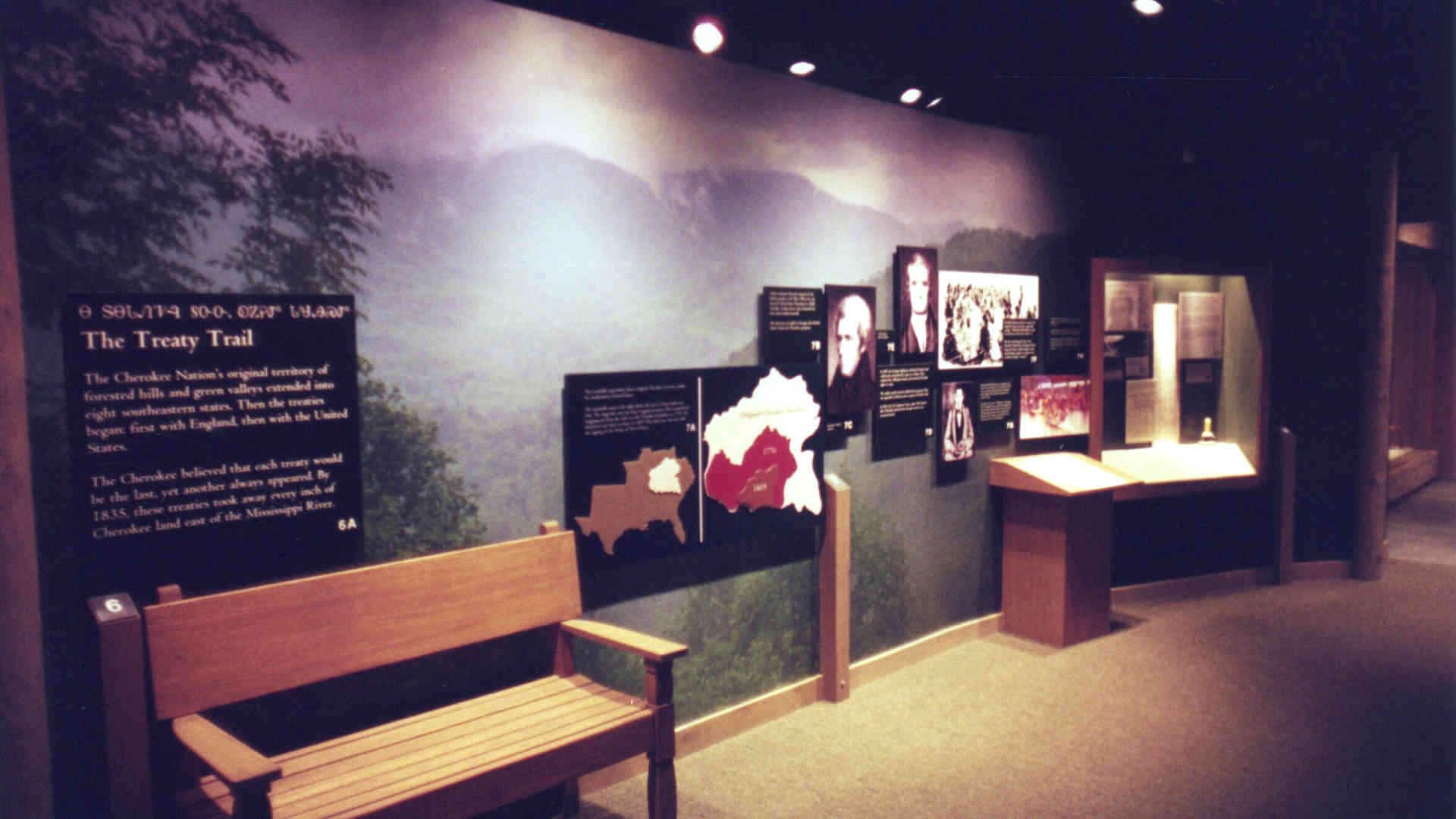 trail of tears museum exhibit graphics