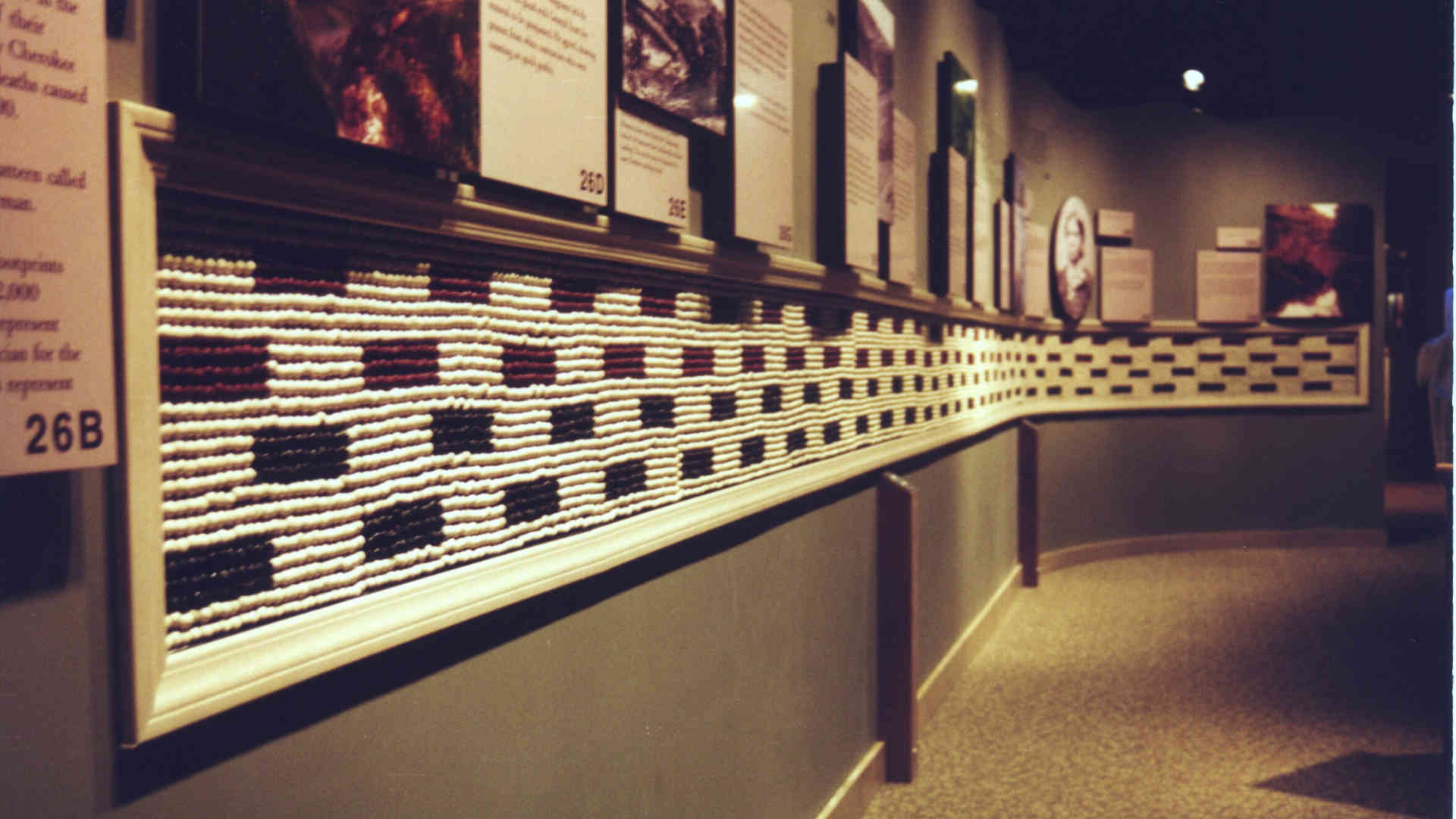 trail of tears museum exhibition bead wall