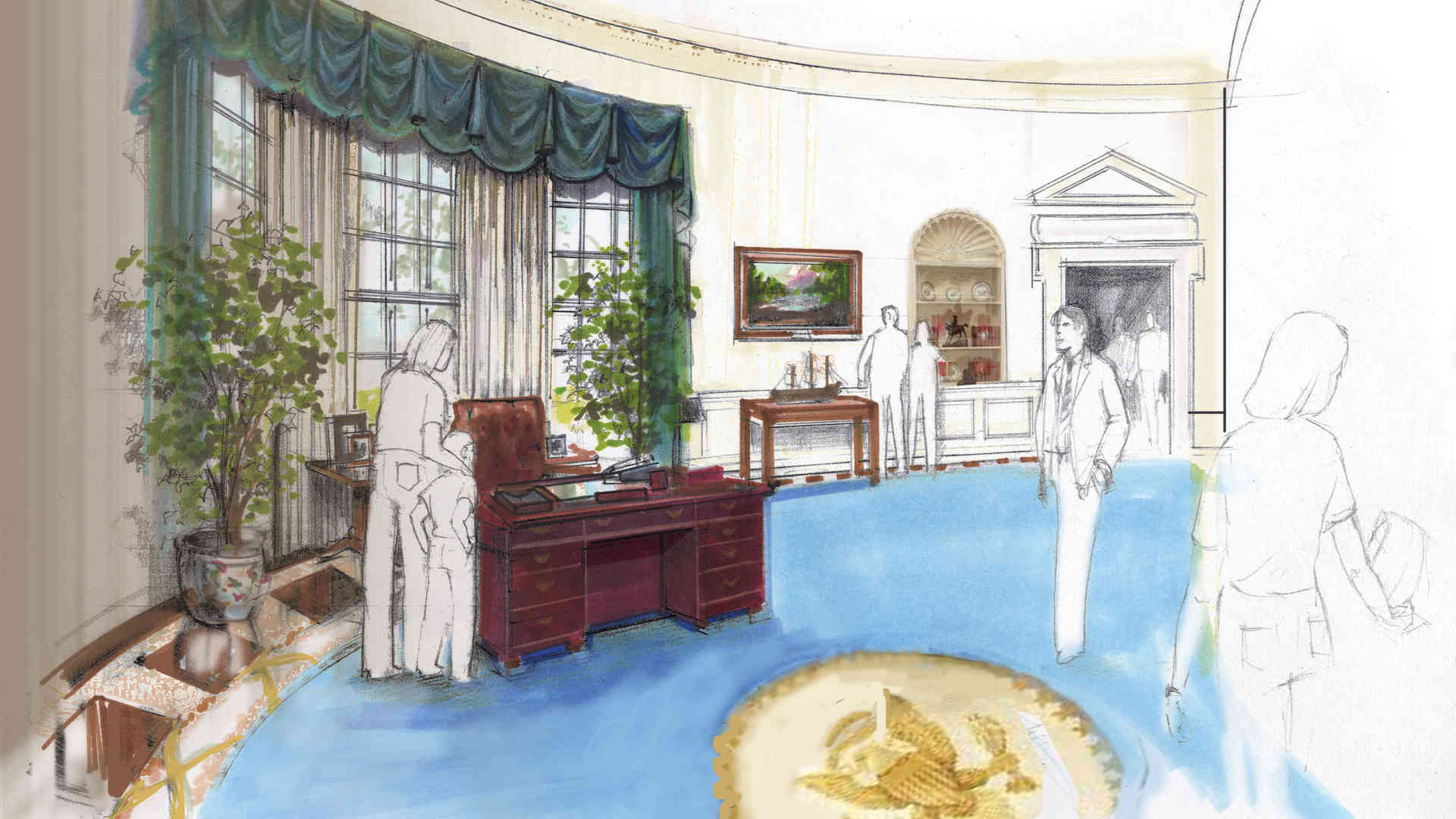george bush library and museum master plan and concept of oval office
