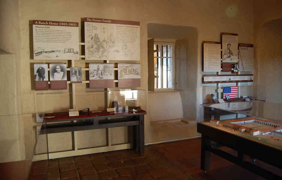 mission san juan capistrano artifacts and exhibit graphics