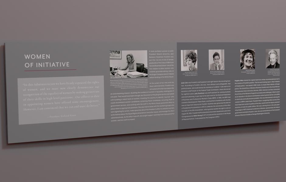 title ix exhibit graphic reader rail