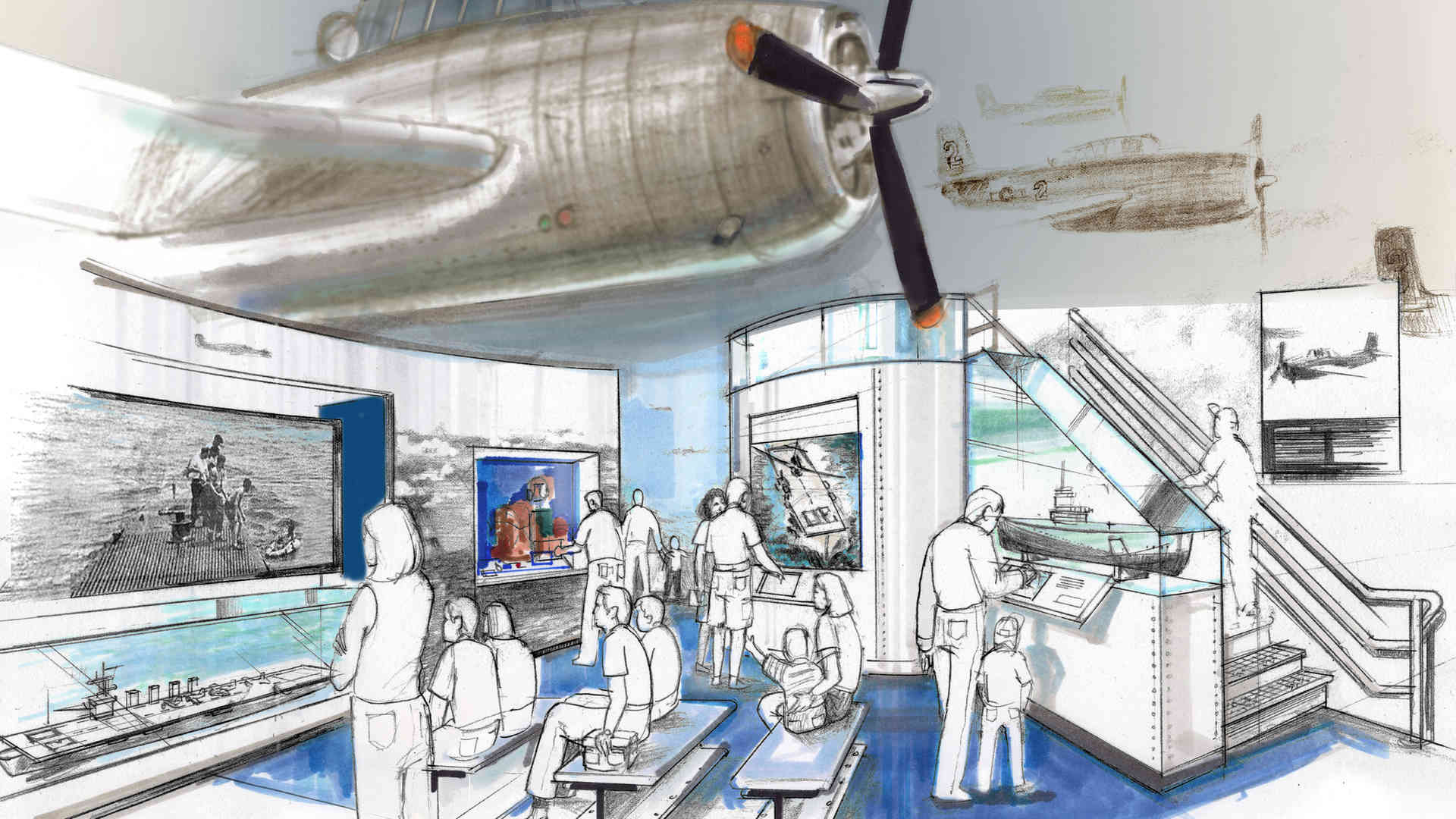 george bush library and museum master plan and concept of gulf war airplane