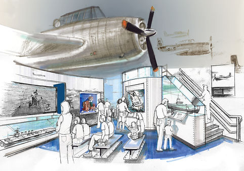 george bush presidential library design sketch