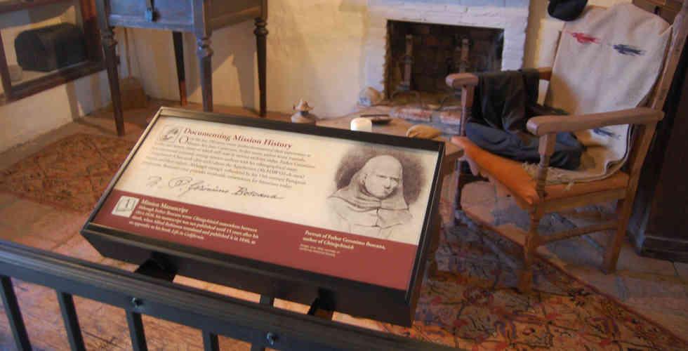 mission san juan capistrano historic interior and exhibit