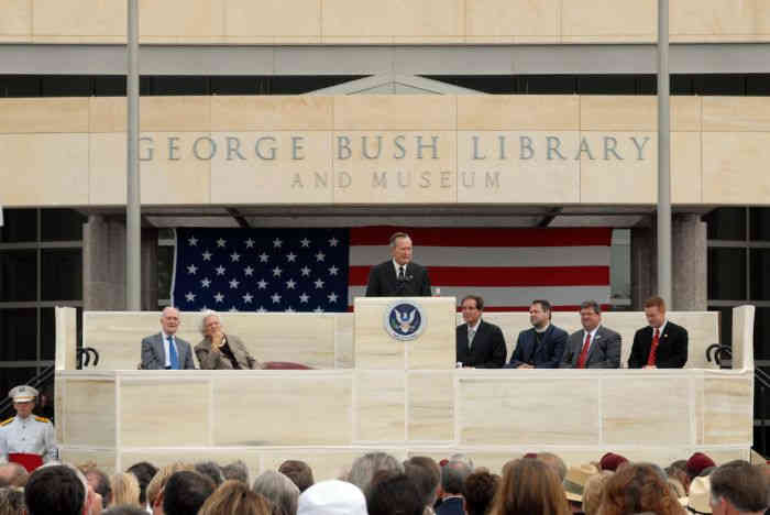 george bush library and museum grand opening