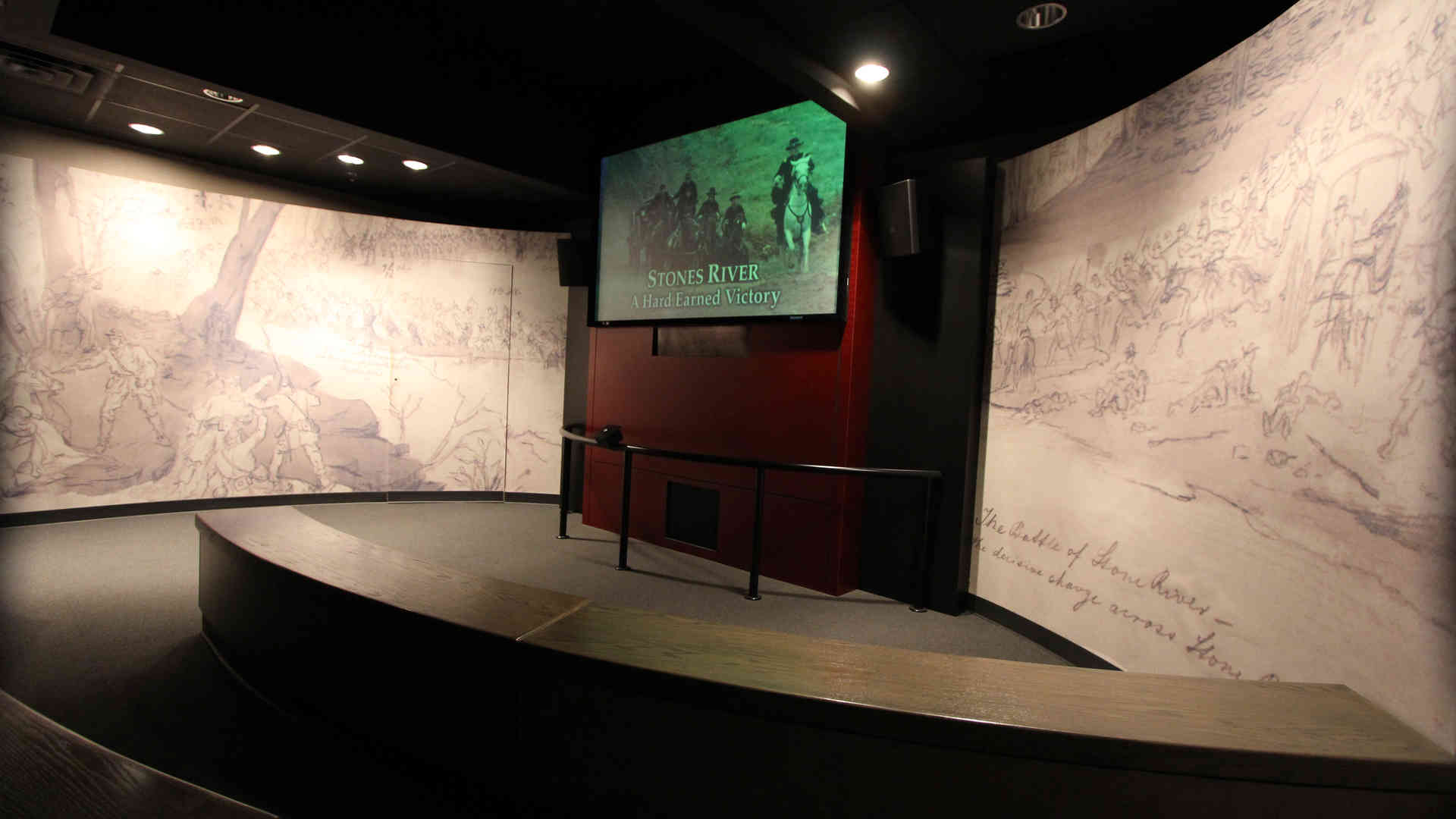 stones river national battlefield visitor center and headquarters exhibit theater and a/v